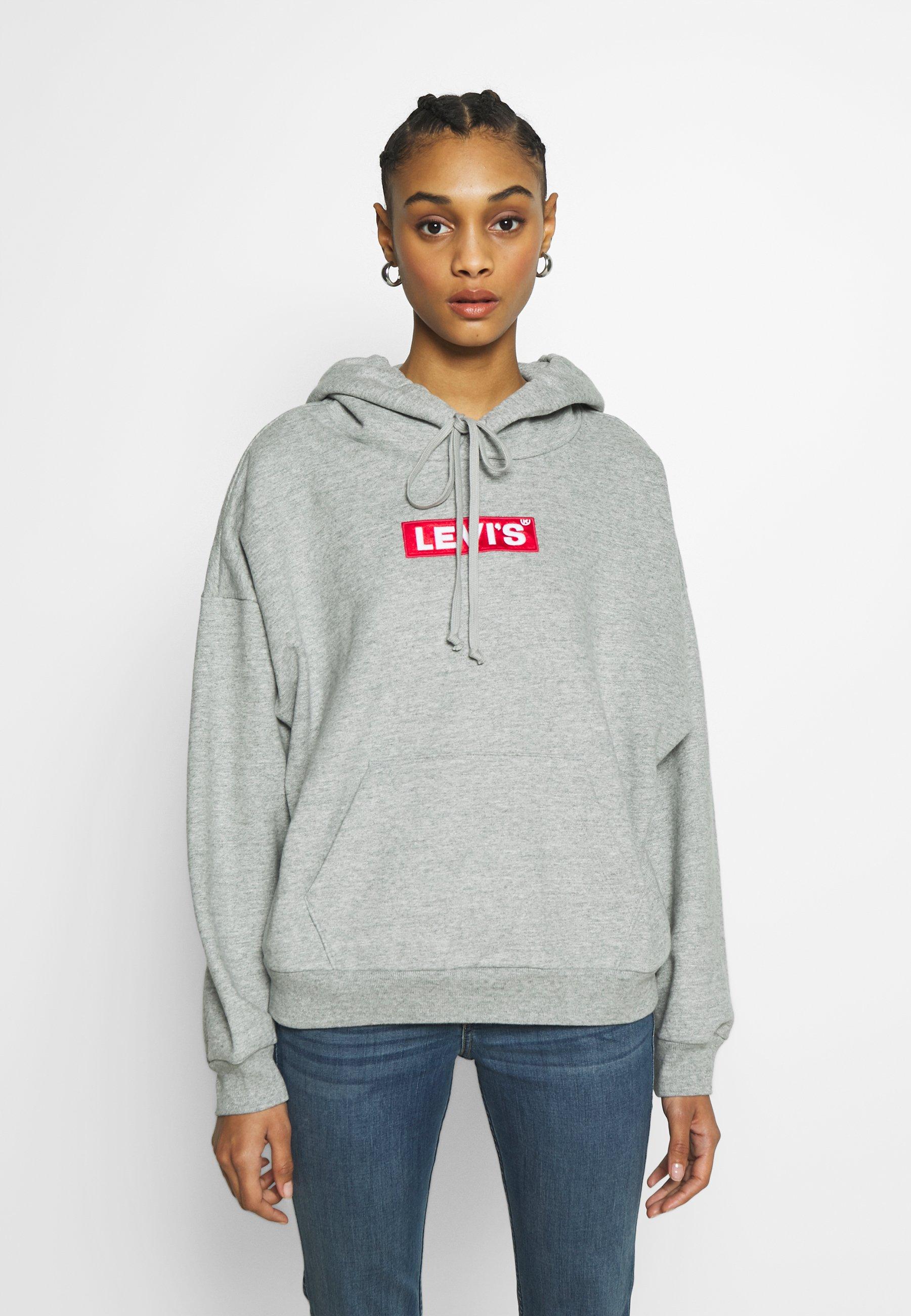Levi's® GRAPHIC HOODIE - Bluza z kapturem - mottled light grey