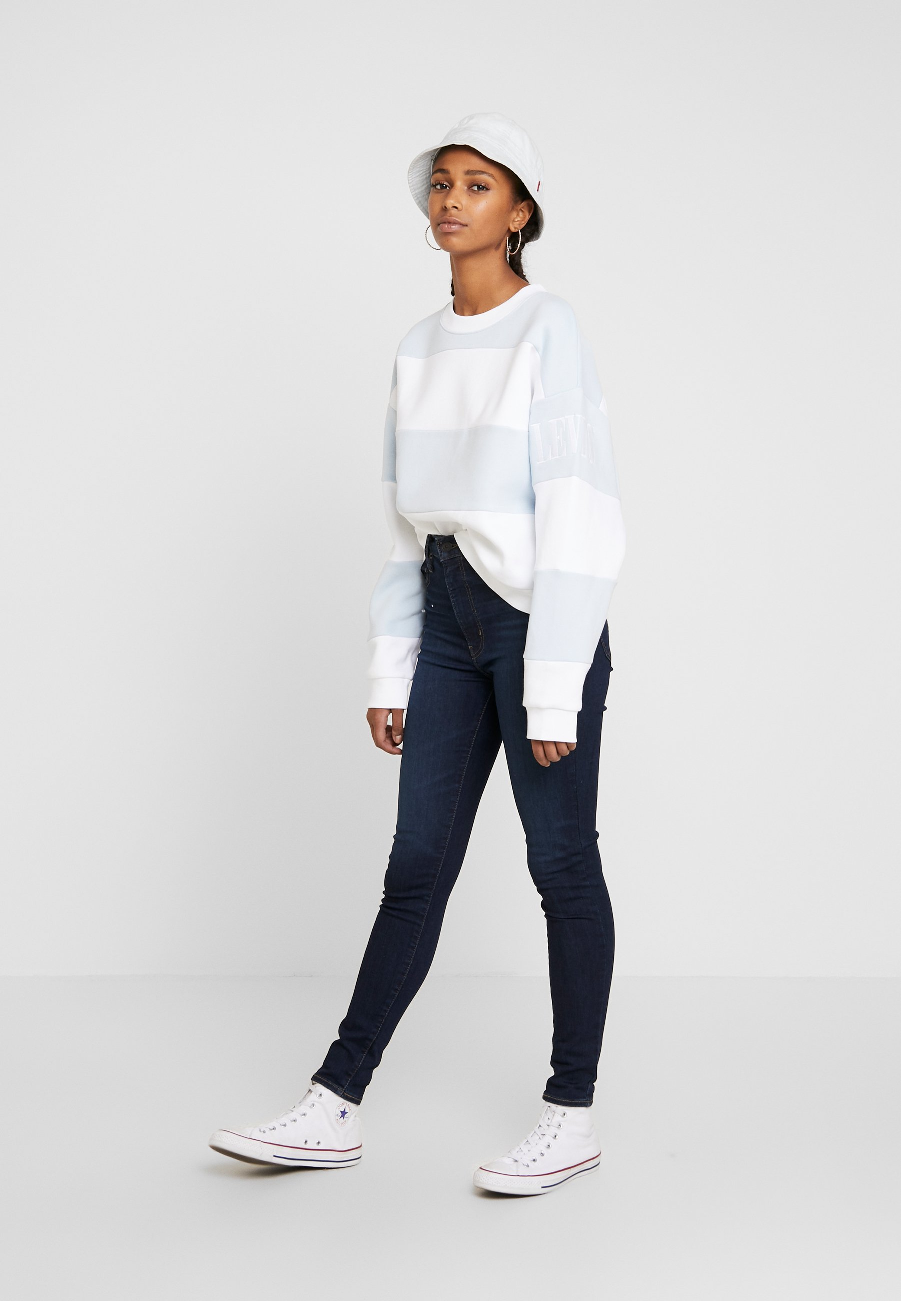 Levi's® Diana Crew - Sweatshirt Haley Baby Blue/white
