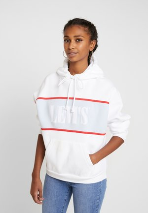 CAMERON HOODIE - Sweat à capuche - white baby blue