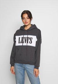 Levi's® - CAMERON HOODIE - Bluza z kapturem - mottled dark grey - 0