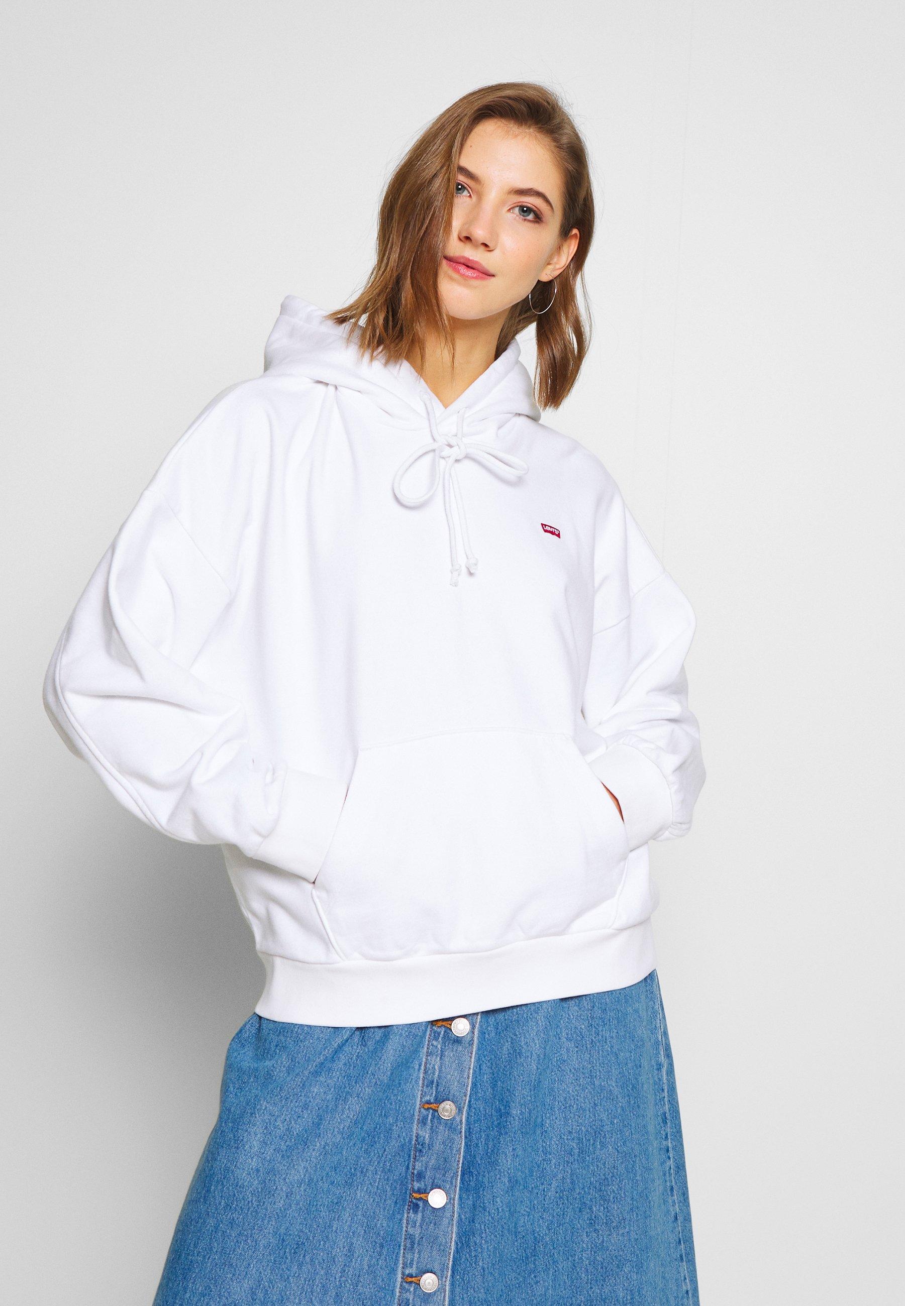 Levi's® HOODIE - Bluza z kapturem - white