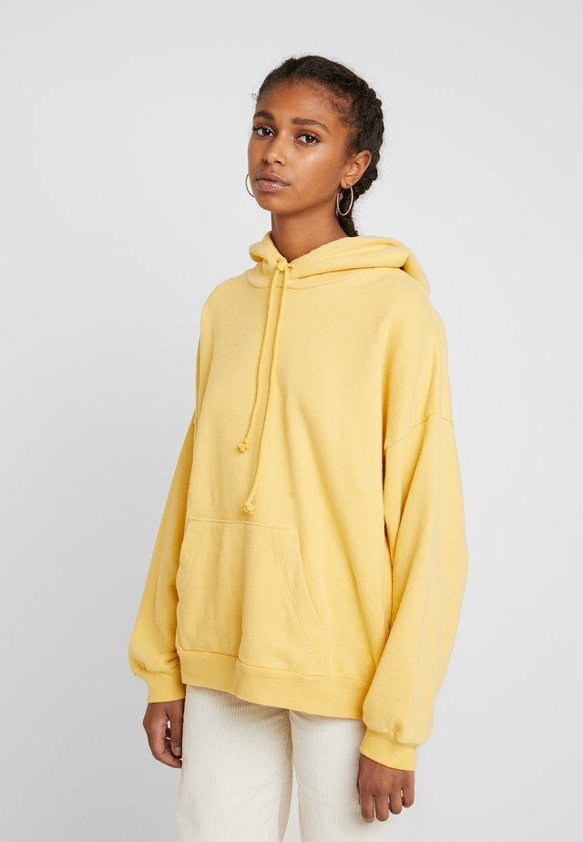 Bluza z kapturem - ultra soft ochre garment dye