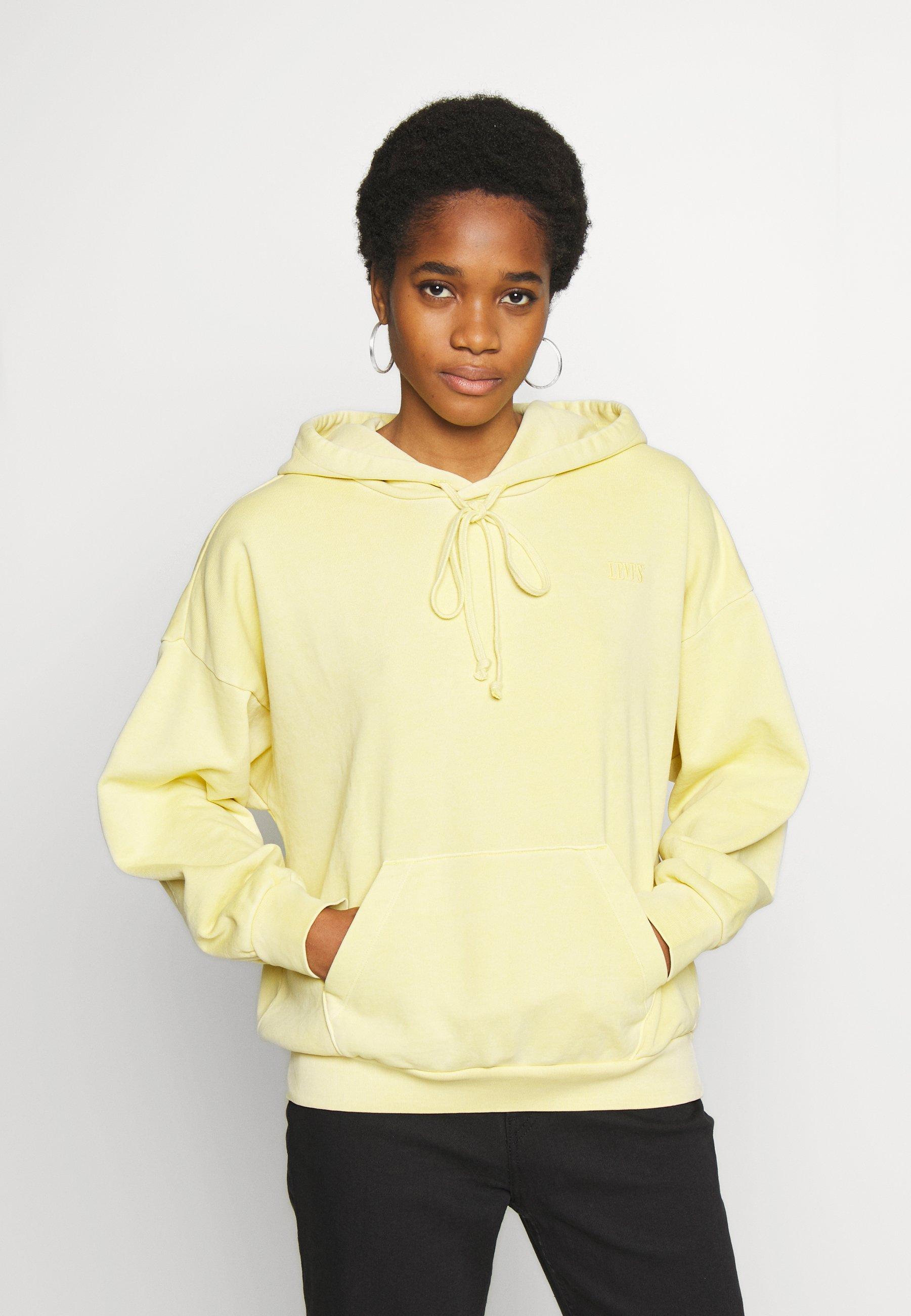 Levi's® HOODIE - Bluza z kapturem - pale banana garment dye