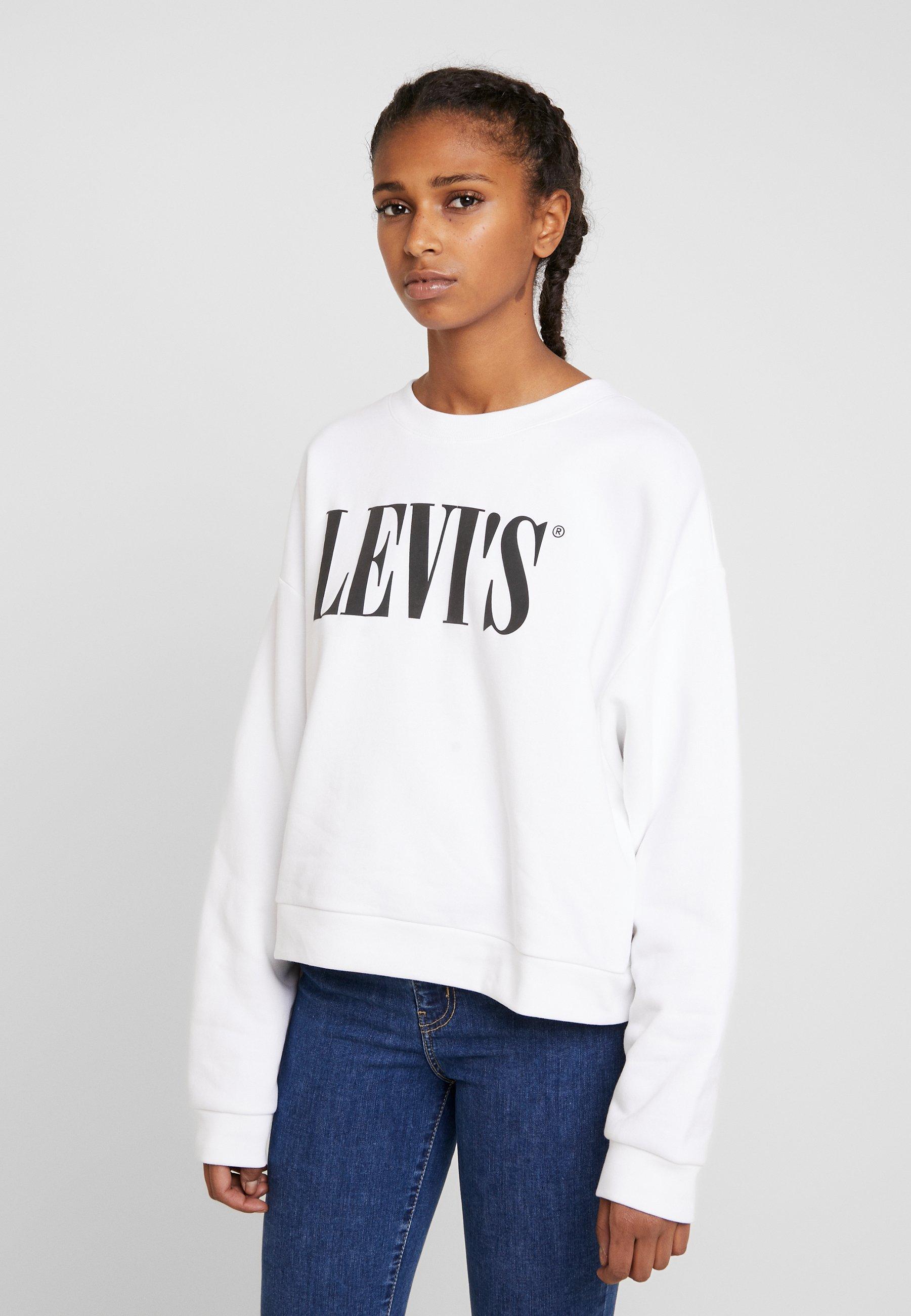 Levi's® GRAPHIC DIANA CREW - Bluza - white