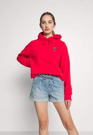 MARIO GRAPHIC SPORT HOODIE - Bluza z kapturem - red