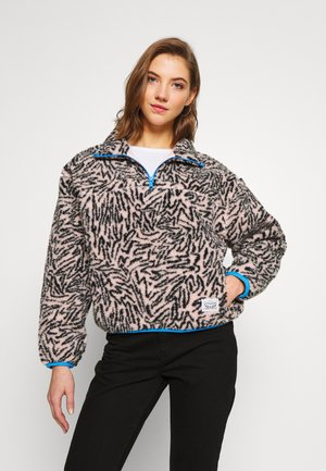 SLOANE SHERPA - Fleece trui - light pink/black
