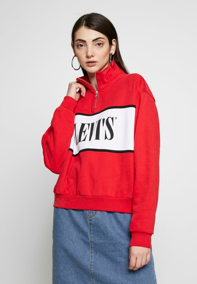 LOGO - Sudadera - brilliant red
