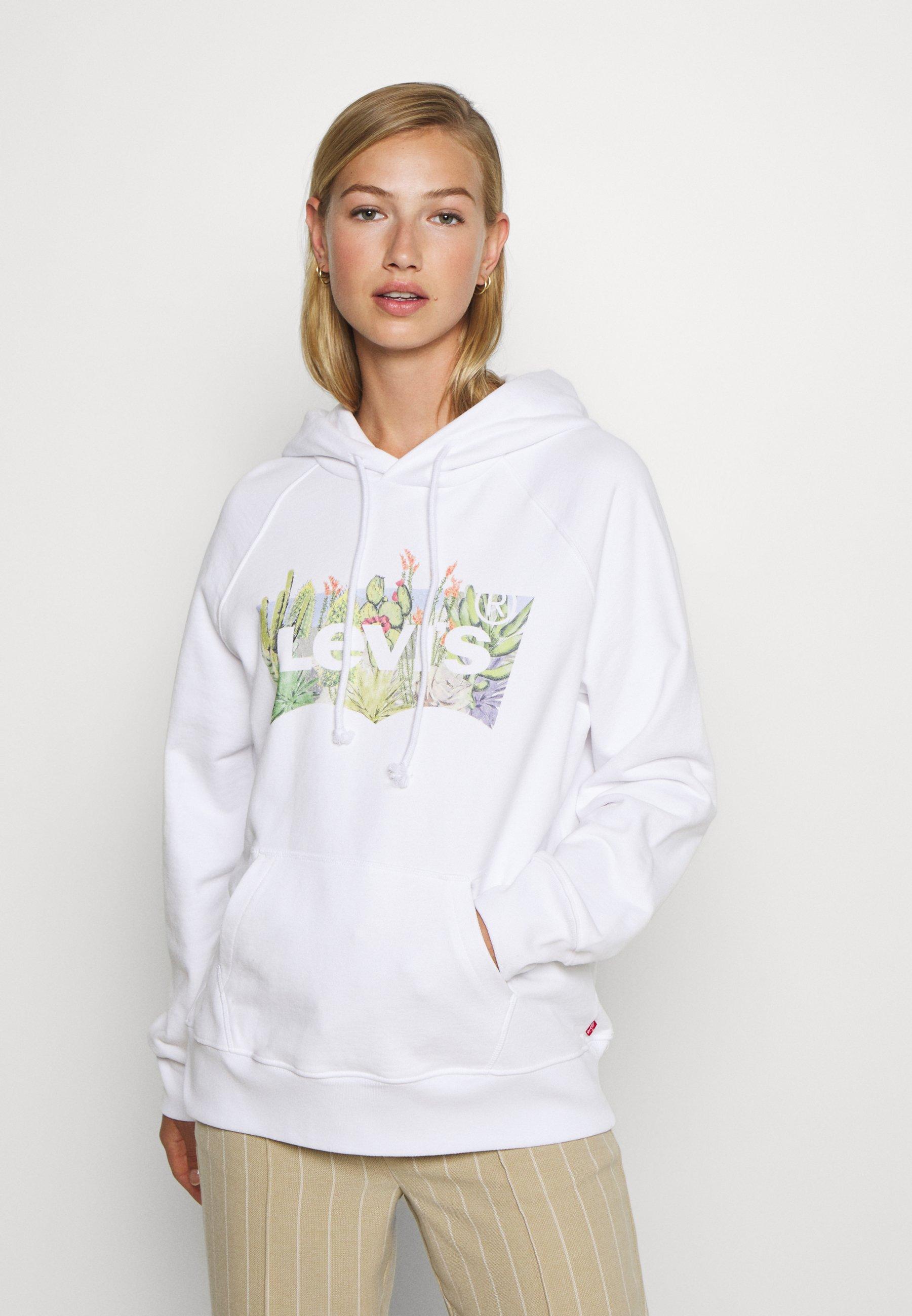 Levi's® LOGO HOODIE Sweat à capuche white ZALANDO.FR
