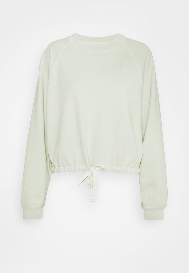 CINCHED CREW - Felpa - light green