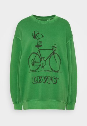 PEANUTS UNBASIC CREW - Sweatshirt - green