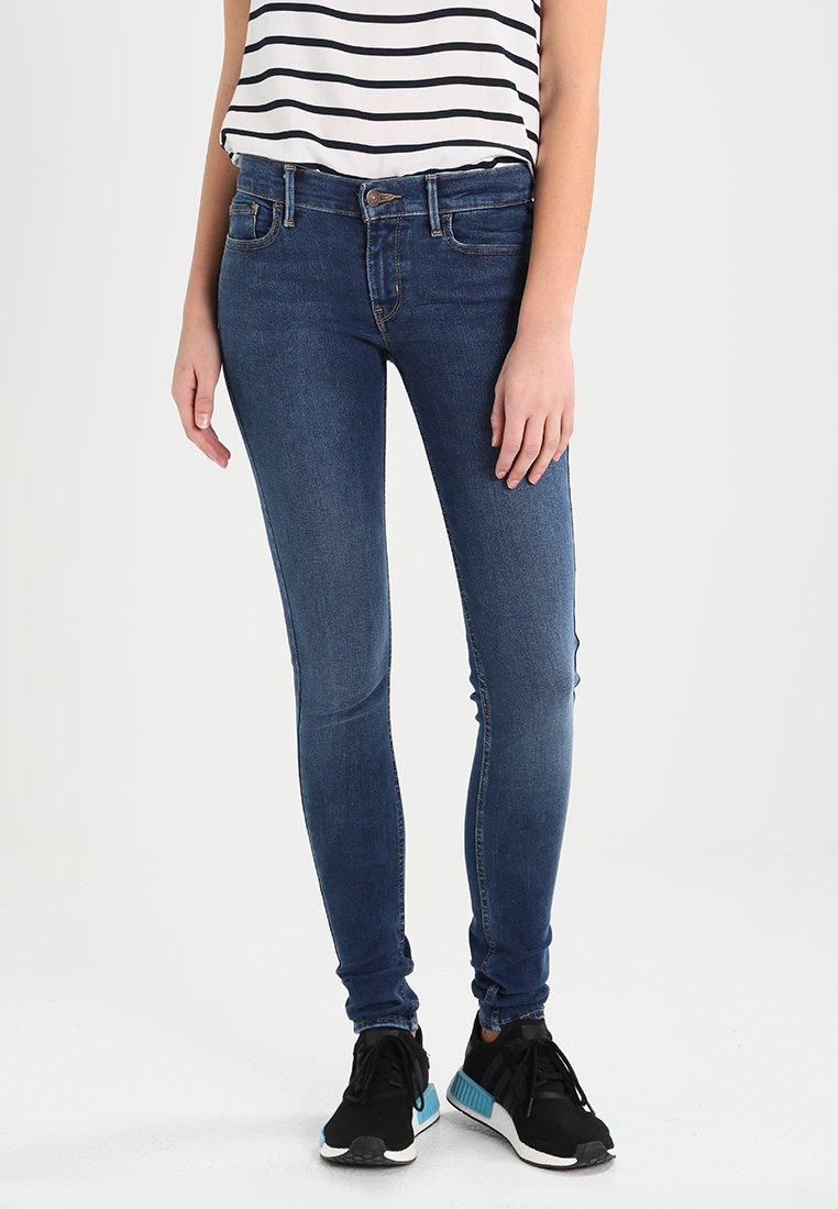 Levi's® - INNOVATION SUPER SKINNY - Jeans Skinny Fit - blue black denim