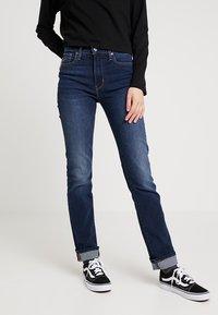 Levi's® - 724 HIGH RISE STRAIGHT - Straight leg -farkut - dark-blue denim - 0