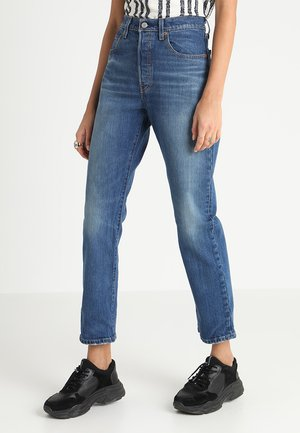 501 CROP - Jeansy Straight Leg - rebel