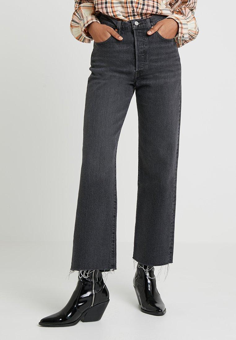 Levi's® - RIBCAGE STRAIGHT ANKLE - Jeansy Straight Leg - grey denim
