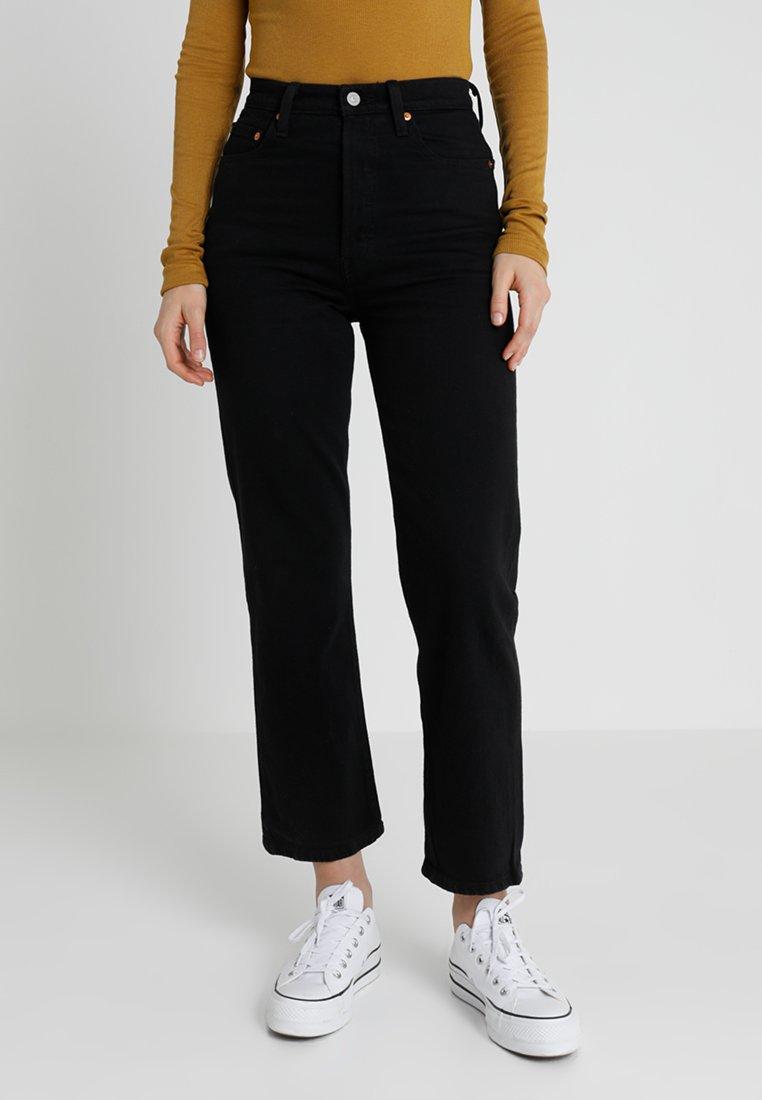 Levi's® - RIBCAGE - Jeans Straight Leg - black heart