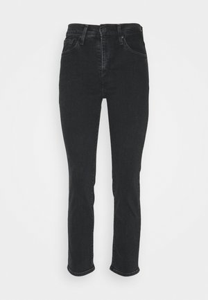 724 HIRISE STRAIGHT CROP - Jeans straight leg - black denim