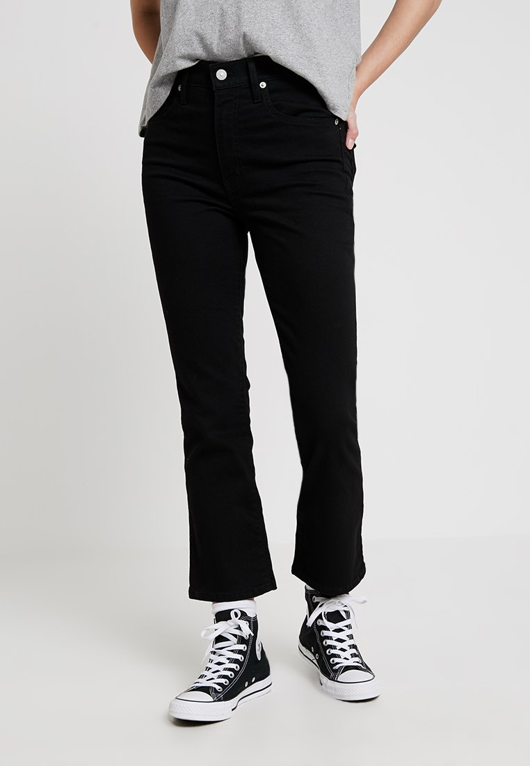 Levi's® - MILE HIGH CROP FLARE - Flared jeans - black sheep
