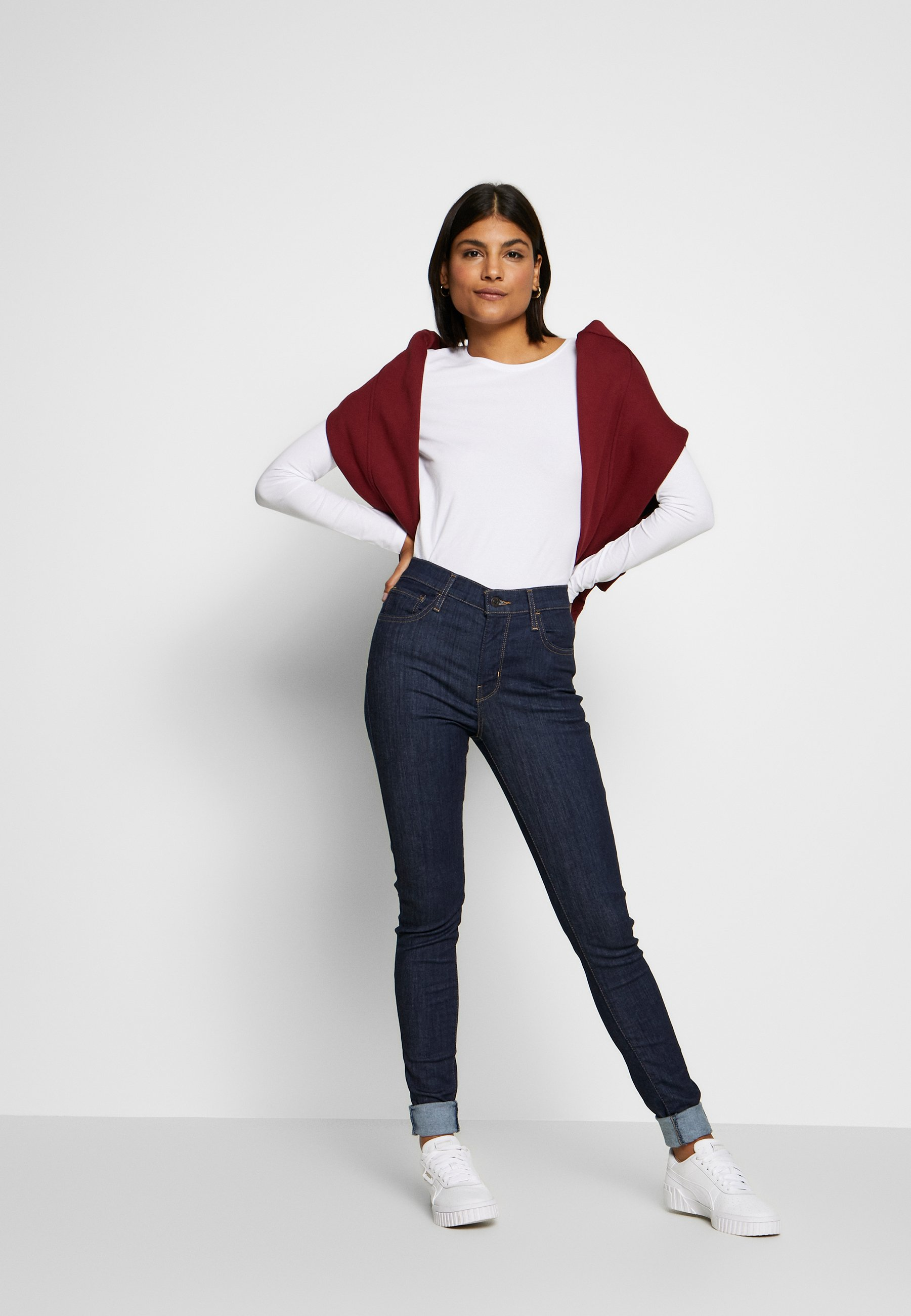 Levi's® 720 HIRISE SUPER SKINNY - Jeansy Skinny Fit - deep serenity
