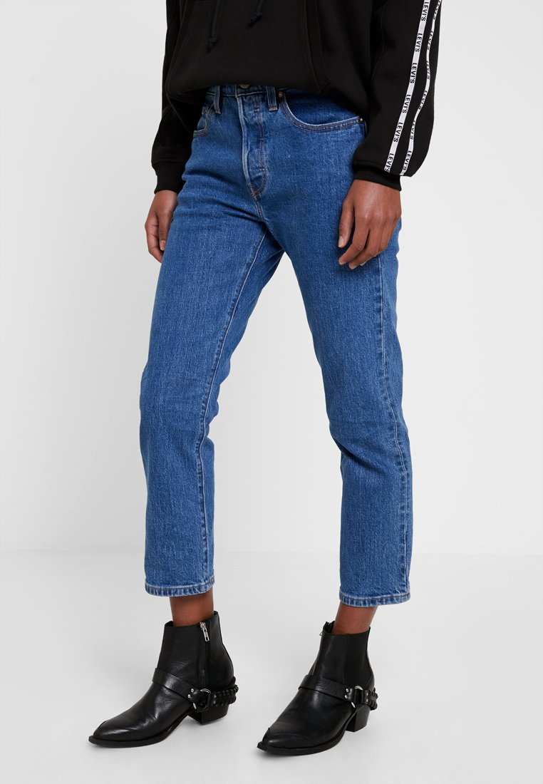 Levi's® - 501® CROP - Relaxed fit jeans - jive stonewash