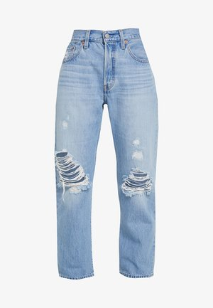 501® CROP - Straight leg jeans - montgomery patched