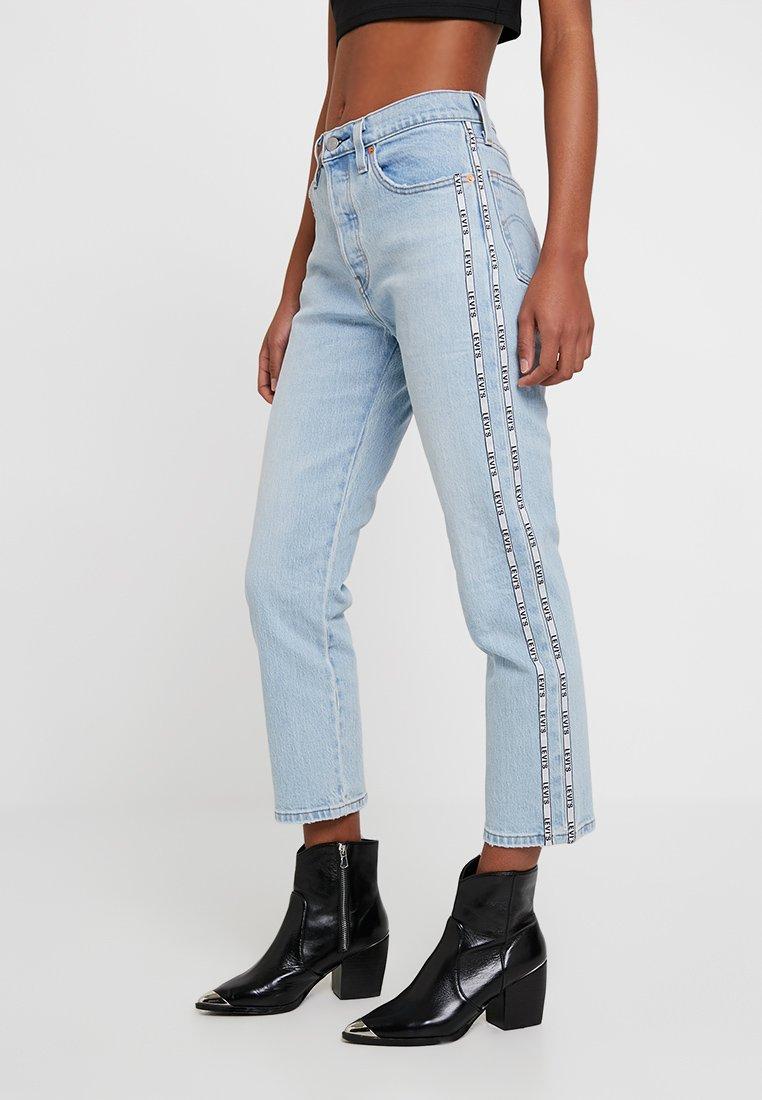Levi's® - 501® CROP - Straight leg jeans - light-blue denim