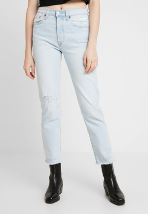 501® CROP - Straight leg -farkut - light-blue denim