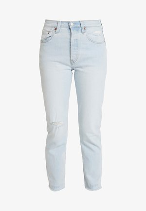 501® CROP - Džíny Straight Fit - light-blue denim