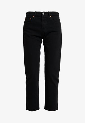 501® CROP - Straight leg jeans - black heart