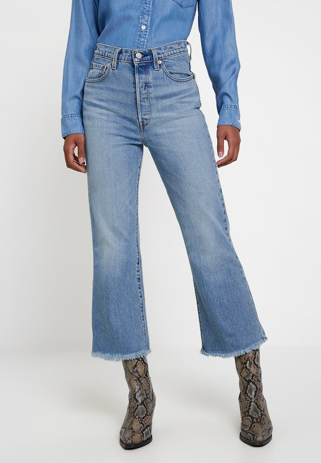 RIBCAGE CROP FLARE - Flared Jeans - scapegoat
