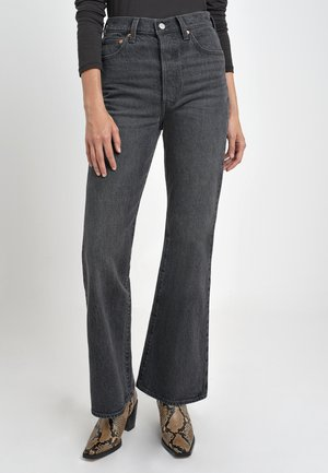 RIBCAGE FLARE - Trousers - grey denim