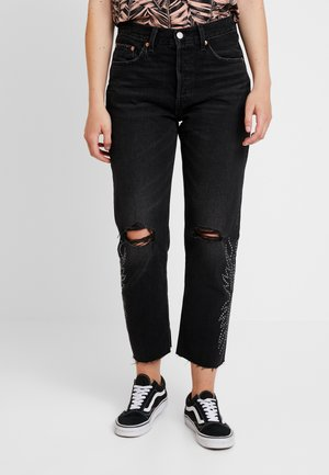 501® CROP - Jeans a sigaretta - black canyon