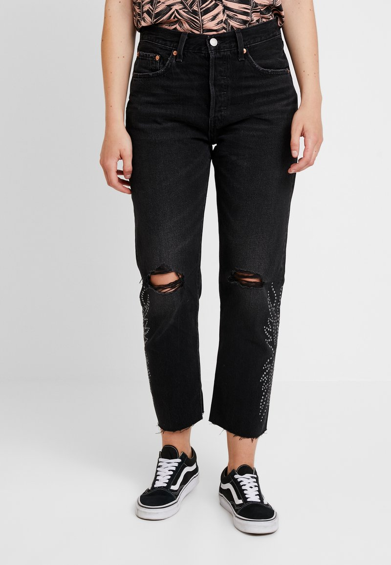 Levi's® - 501® CROP - Jeansy Straight Leg - black canyon
