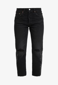 Levi's® - 501® CROP - Jeansy Straight Leg - black canyon - 4