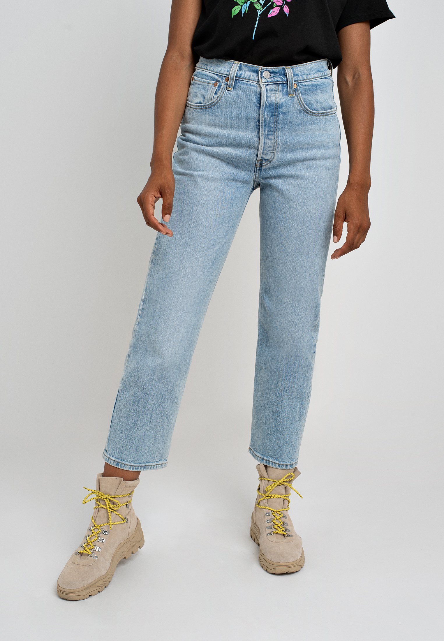 Levi's® RIBCAGE STRAIGHT ANKLE - Jeansy Straight Leg - tango light
