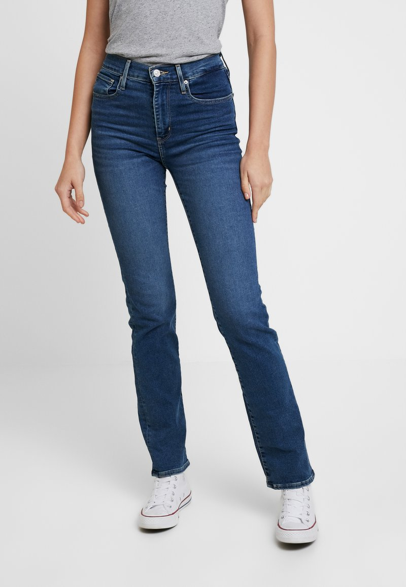 Levi's® - 724 HIGH RISE STRAIGHT PARIS FADE - Jeans Straight Leg - med indigo
