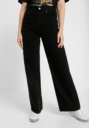 RIBCAGE WIDE LEG - Jean flare - black book