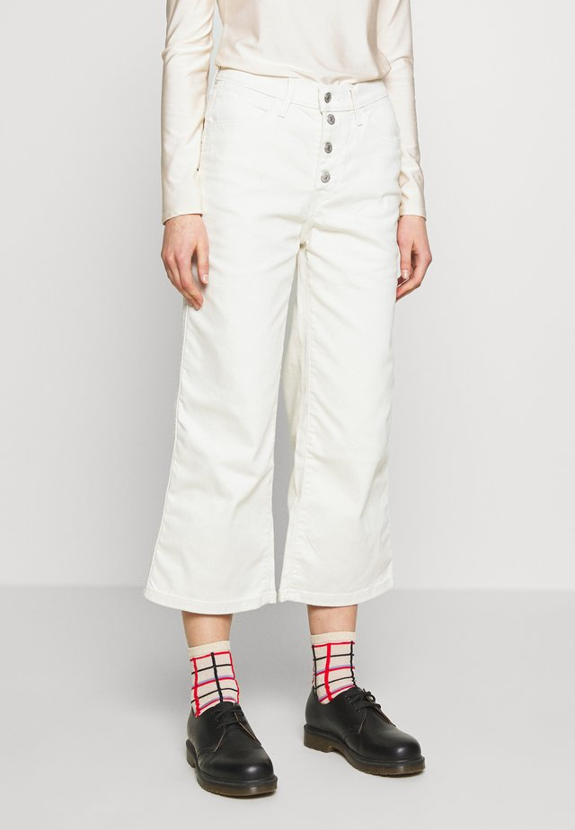 MILE HIGH BUTTONS - Jeans a zampa - defined twill birch