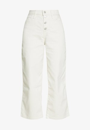 MILE HIGH BUTTONS - Flared jeans - defined twill birch