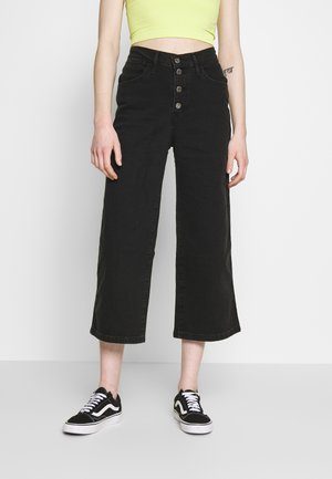 MILE HIGH BUTTONS - Jeans a zampa - dust and ash