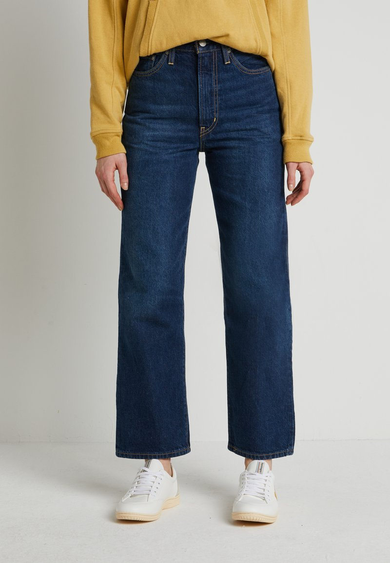 Levi's® - WELLTHREAD RIBCAGE ANKLE - Straight leg jeans - ground swell indigo hemp