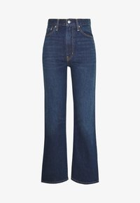 Levi's® - WELLTHREAD RIBCAGE ANKLE - Straight leg jeans - ground swell indigo hemp - 4