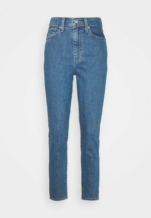 HIGH WAISTED TAPER - Straight leg jeans - blue denim