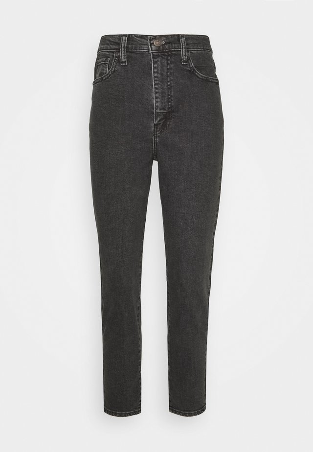 HIGH WAISTED TAPER - Jeans straight leg - black denim