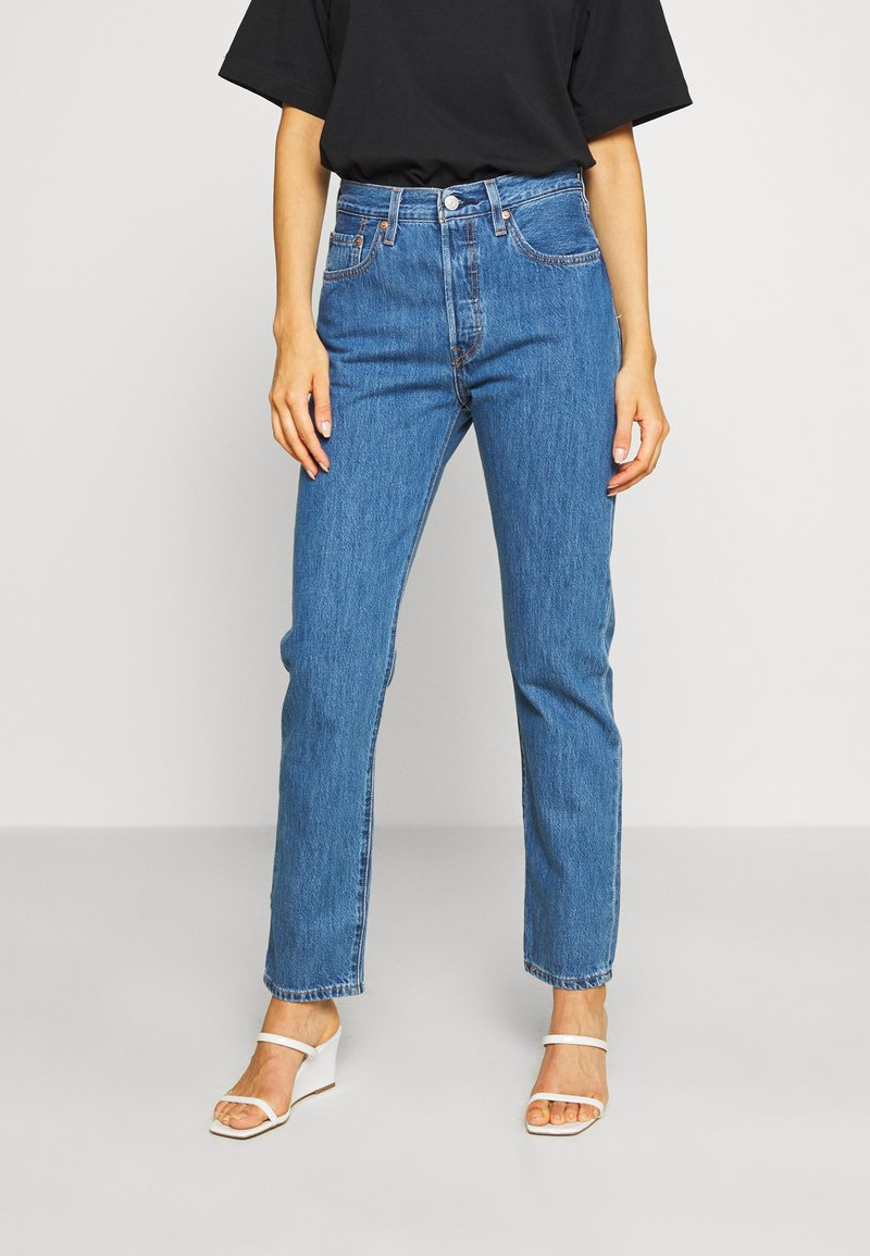 Levi's® - 501® CROP - Jeansy Slim Fit - sansome breeze stone