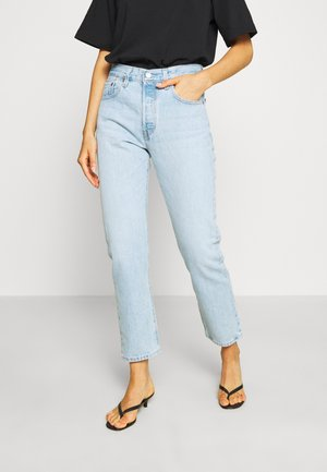 501® CROP - Jeansy Straight Leg - light blue denim