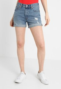 Levi's® - 501 SHORT LONG - Jeansshorts - highways + byways - 0