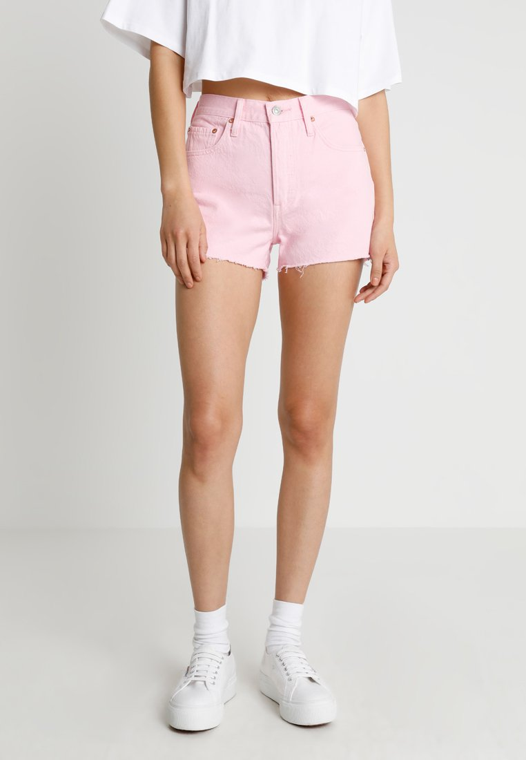 Levi's® - 501 HIGH RISE - Denim shorts - light pink short
