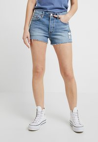 Levi's® - 501® SHORT - Jeans Shorts - blue denim - 0
