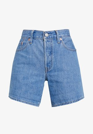 501 SHORT LONG - Denim shorts - montgomery stonewash short