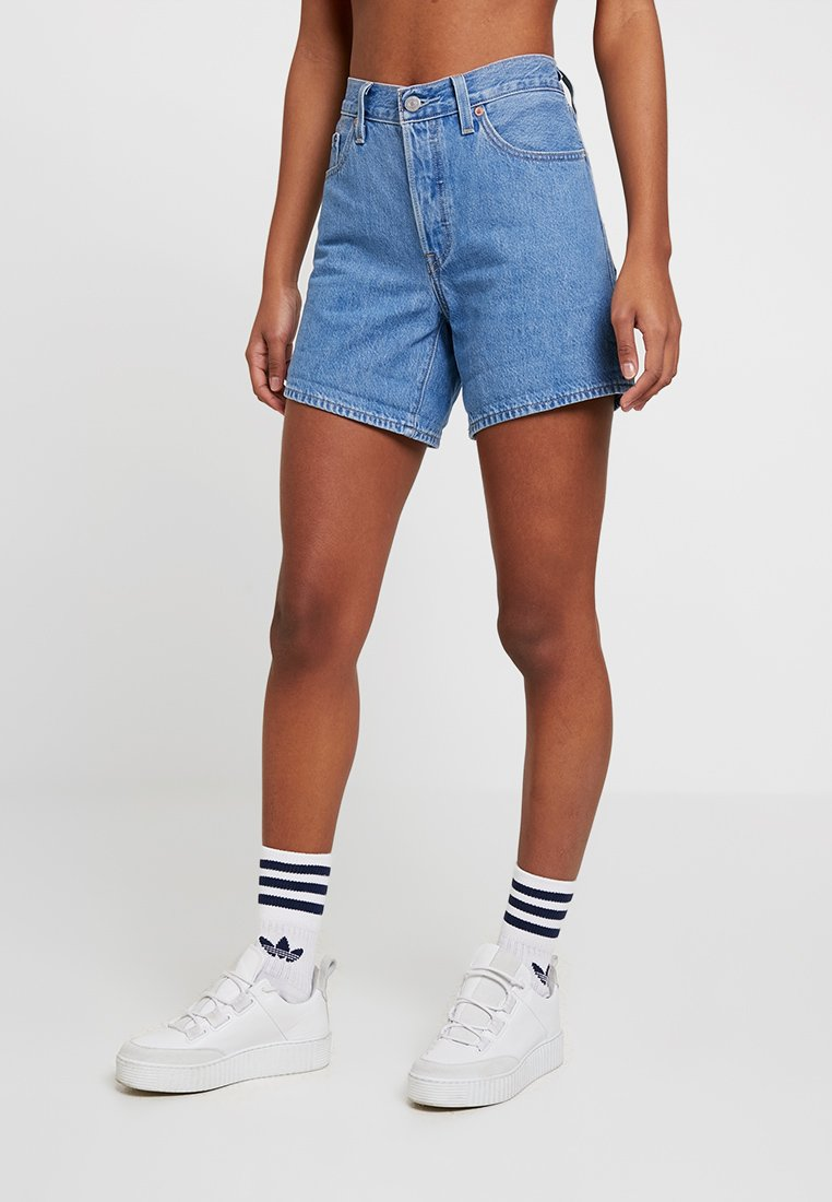 Levi's® - 501 SHORT LONG - Denim shorts - montgomery stonewash short
